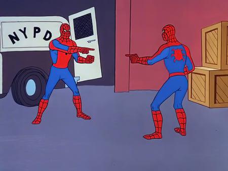 Spider Man pointing meme